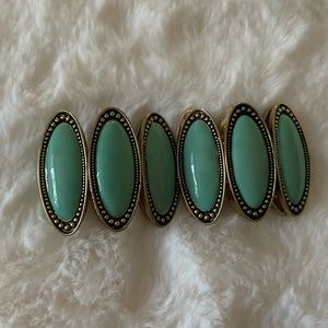 Lucky Brand Stretchy Turquoise Bracelet